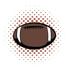 American football comics icon vector image