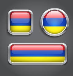 Armenia flag buttons vector image