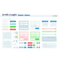 Authorization ui elements kit vector