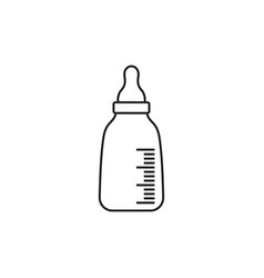 baby milk bottle icon design template isolated vector image