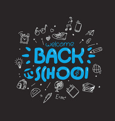 back to school greeting card template vector image