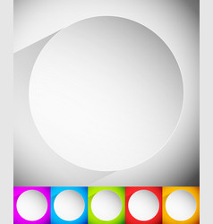 Background with blank circle badge casting shadow vector