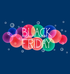 Black friday special offer banner over colorful vector