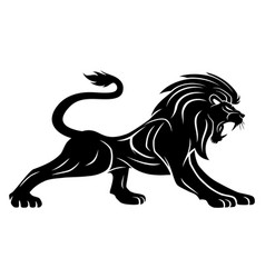 black lion sign vector image