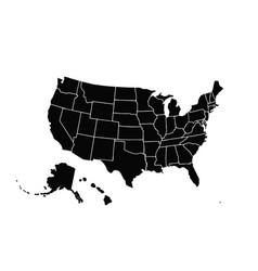 blank similar usa map isolated on white vector image