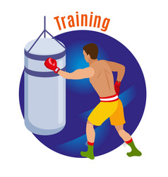 box training circle background vector image