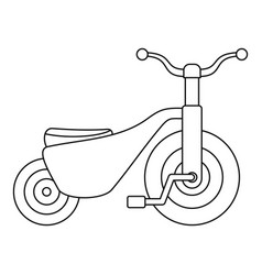 boy tricycle icon outline style vector image