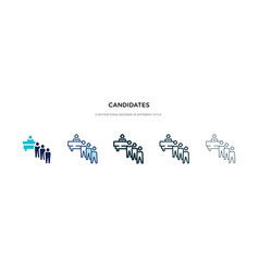 Candidates icon in different style two colored vector