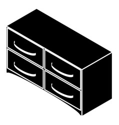 chest of drawers icon simple style vector image