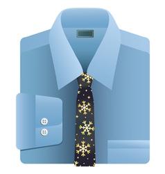 Christmas snowflake tie vector