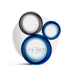 Circle web layout - digital techno spheres - web vector