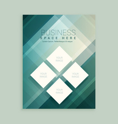 Company magazine cover template with abstract vector