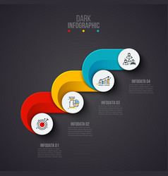 Creative concept for dark infographic business vector