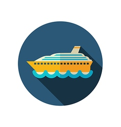 Cruise transatlantic liner ship icon Vacation vector image