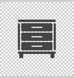 Cupboard icon on isolated background modern flat vector