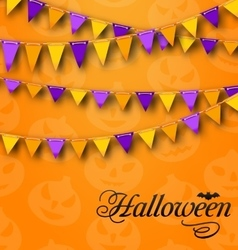 Decoration with Colorful Bunting Pennants for vector
