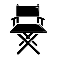 director chair icon simple black style vector image