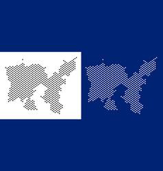 Dot limnos greek island map vector