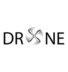 Drone abstract text vector image
