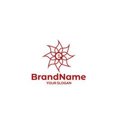 E lotus logo design vector