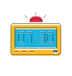 Electronic Alarm Clock Icon line style vector image