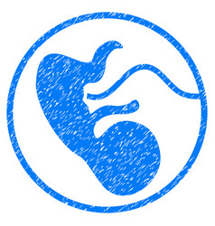 Embryo grunge icon vector