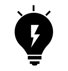 energy idea bulb icon simple style vector image