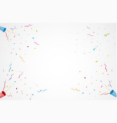 Exploding party popper background vector
