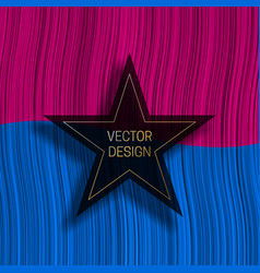 Five-pointed star frame on colorful dynamic vector