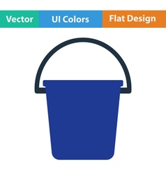 Flat design icon of bucket vector image