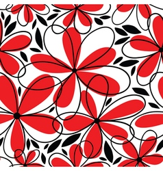 Floral doodle seamless vector