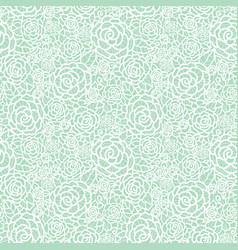 Gentle pastel mint green lace roses vector