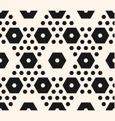 Geometric seamless pattern hexagons texture vector
