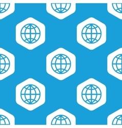 Globe hexagon pattern vector