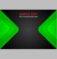 Gray and green template abstract background with vector