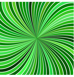 green hypnotic abstract spiral ray stripe vector image