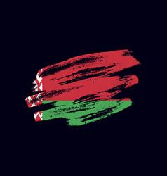 grunge textured belarusian flag vector image
