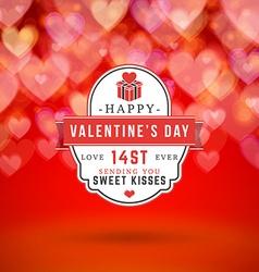 Happy Valentines Day Retro Typographical Badge vector