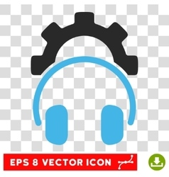 Headphones Configuration Eps Icon vector