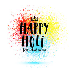 holi spring festival colors design vector image