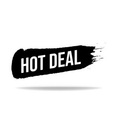 hot deal promo lettering hot deal stock vector image