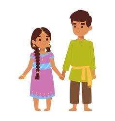 indian kids vector image