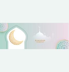 Islamic ramadan season banner with beautiful vector