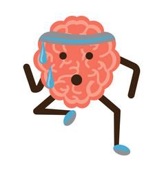 kawaii brain icon vector image