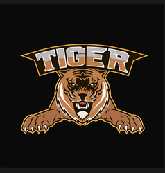Logo tiger mascot team sport vector