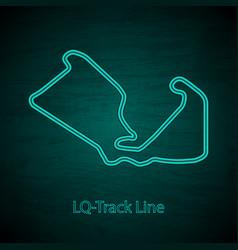 Long quarter track outline vector