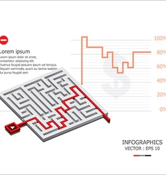 Maze Design Template vector image
