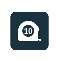 Measurement icon Rounded squares button vector