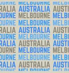 Melbourne australia seamless pattern vector