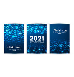 merry christmas and happy new ayer flyer template vector image